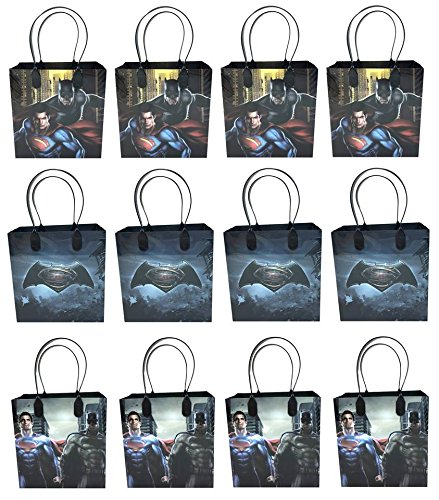 DC Comics Batman Vs. Superman 12 Pcs Goodie Bags Party Favor Bags Gift Bags Birthday Bags]()
