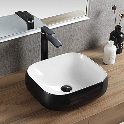 パーソナリティクリエイティブアート洗面台 クラックへの熱抵抗にボート洗面台バスルームの洗面台アート盆地抵抗 (Color : Black, Size : 45x40x15cm)