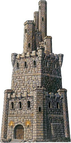 Jointed Castle Tower Party Accessory (1 count) (1/Pkg) (Medieval Party Decorations)