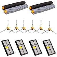 14PCS Replenishment Parts Kit for iRobot Roomba 980 960 900 800 801 805 860 870 880 890 Vacuum Cleaner - Roomba Accessories with 4pcs Hepa filters,6pcs Side Brushes,2 Pair Debris Extractors