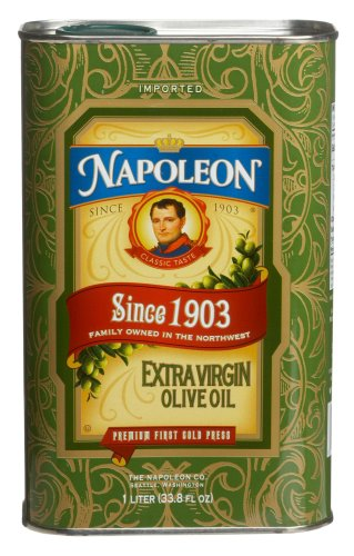 Napoleon Extra Virgin Olive Oil Commemorative Tin, 33.8-Ounce Tins (Pack of 2)