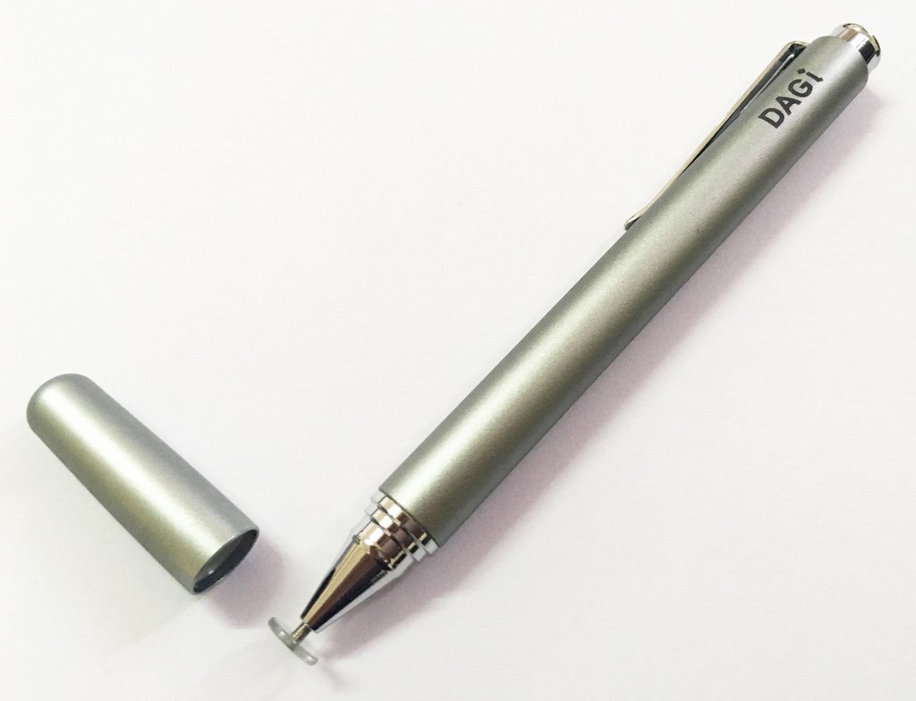 DAGi P507-Gray Precision Stylus Pen for iPhone, Android, Kindle, Windows and Most Touchscreens