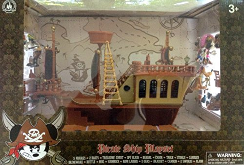 Disney's Deluxe Mickey Mouse Pirates of the Caribbean Pirate Ship Play Set - Theme Park (Pirate Figurine Set)