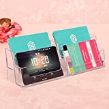 4 Pocket Acrylic Office Desk Shelf Display Business ID Card Holder