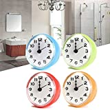 Large Bathroom Mirror Update ThanaphatShop 4 Color Bathroom Shower Waterproof Wall Clock Large Sucker Without Battery Home ( Red )
