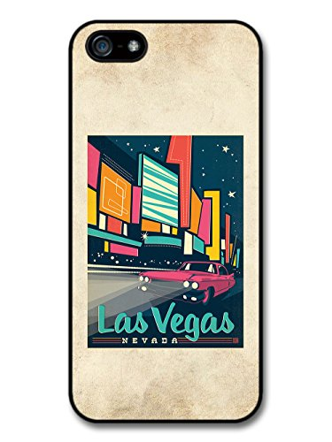 Retro 70s Las Vegas Nevada Promotional Poster Illustration case for iPhone 5 5S