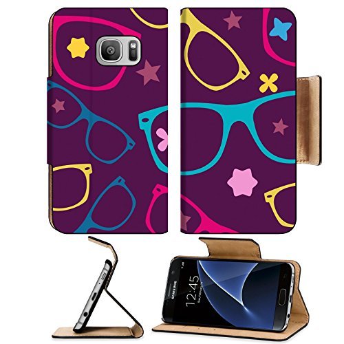 Luxlady Premium Samsung Galaxy S7 Flip Pu Leather Wallet Case IMAGE ID 31104827 sunglasses and abstract elements seamless - Sunglasses Elements Carbon