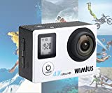 WIMIUS-Q4-4K-Action-Camera-WIFI-Dual-Screen-Waterproof-Sports-Camera-16MP-170-Wide-Angle-Waterproof-Case2PCS-Batteries-And-20-Extra-Kits-Included-Silver