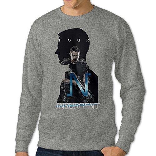 NUBIA Men's Insurgent Classic Hoodies Ash (Adam Gomez Costume)