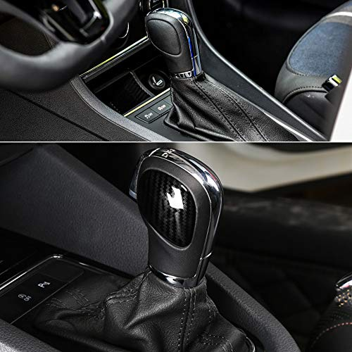 (RaxTDM Car Gear Shift Knob Panel Cover Carbon Fiber Stickers for VW Volkswagen Jetta Polo Golf MK4 MK5 MK6 MK7 Passat B5 B6 B7 B8 R Tiguan Bettle Touran Bora Vento Touareg,etc)