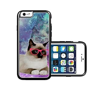 RCGrafix Brand Shawnex-SpringInk-Hipster-Galaxy-Grumpy-Cat-in-Space iPhone 6 Case - Fits NEW Apple iPhone 6