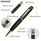 MINICUTE-Hidden-1080p-Spy-Pen-Camera-Bundle-with-16Gb-C10-Micro-SD-Card-8-Ink-Fills-Card-Adapter-and-Card-Reader