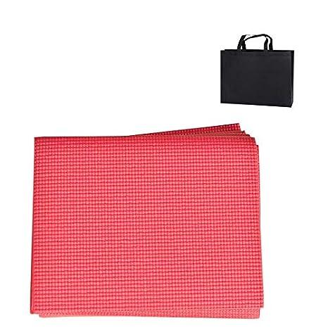 YOOMAT 6MM PVC Foldable Yoga Mat Exercise Pad Thick Non-Slip ...