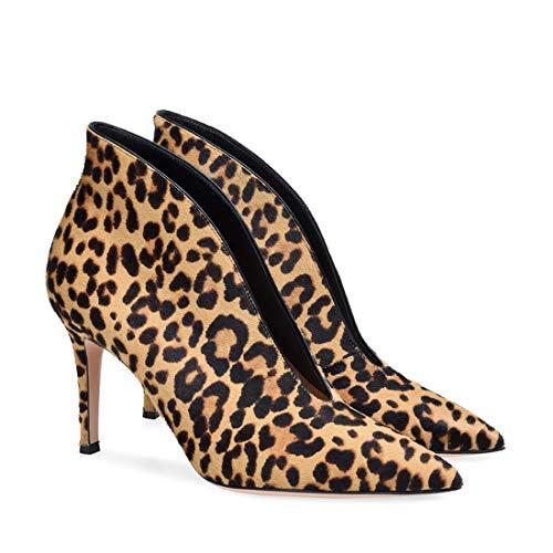 Botas de Botines Altos para Sandalette y Zapatos Europeos DEDE Puntiagudos Zapatos Mujer blackPU Tacones con Americanos Mujer y HxSHq1npY