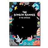 """'THE BONBON' Planner Undated Schedule Planner 2016 Yearly Monthly Academic Planner Organizer Agenda notebook, PVC Cover, 60p, 7.08""""X10.03"""" (Universe)"""