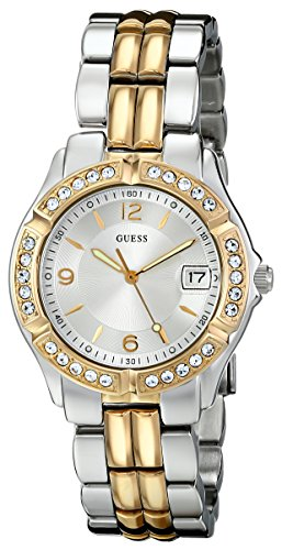 GUESS Women s Stainless Steel Two-Tone Crystal Accented Watch