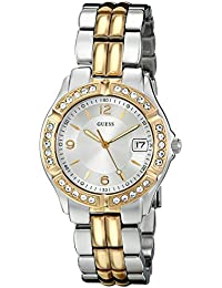 Silver + Gold-Tone Bracelet Watch with Date Feature. Color: Silver/Gold-Tone (Model: U0026L1)