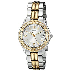 GUESS Women's U0026L1 Dazzling Sporty Silver & Gold-Tone Mid-Size Watch