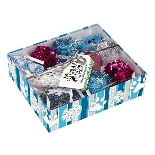 Savvy Tabby Crank Kitty Holiday Chew Toys Set 51mMiXv1usL