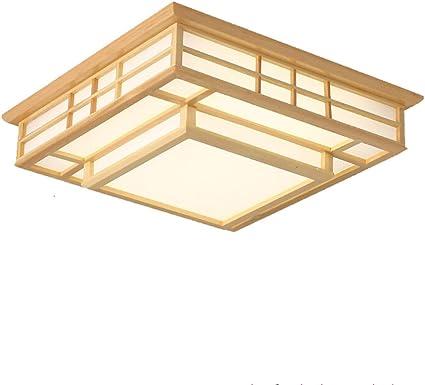 Luz de techo LED Salón Dormitorio Comedor Lámpara PVC Madera: Amazon.es: Iluminación