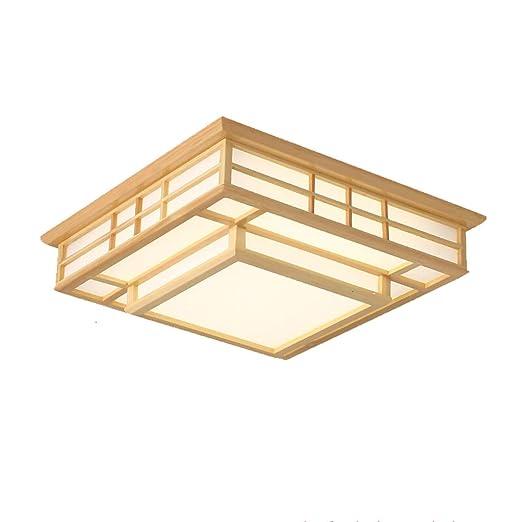 Luz de techo LED Salón Dormitorio Comedor Lámpara PVC Madera ...