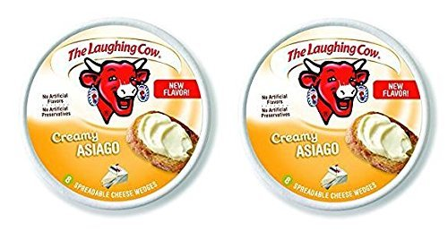 The Laughing Cow Creamy Asiago (Pack of 2) 6 oz Wheels