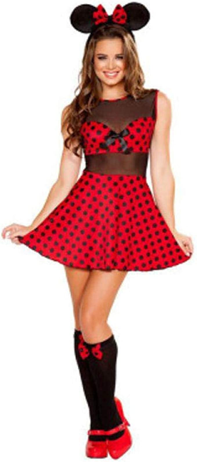Ropa Erótica para Mujer Nuevo Halloween Cosplay Minnie Mouse ...