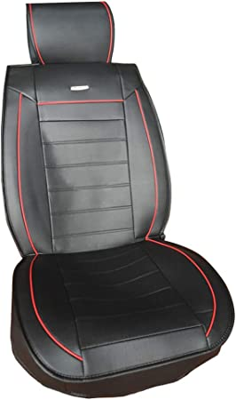 Chemu Autositzbezüge Leder Schwarz Vordersitz Stuhl Protector Anti Rutsch Zubehör 2 Pack Für Fabia Rapid 307 308 508 Auto