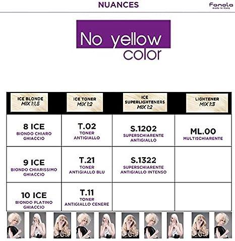 Fanola No Yellow Color T.02 - Tóner, 125 g