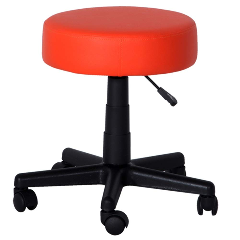 orange red 40CM ZHAOYONGLI Beauty Stool Lifting Bar Stool redate Chair Hairdressing High Stool Round Work Chair Creative Solid Durable Long Lasting (color   Dark Purple, Size   40CM)