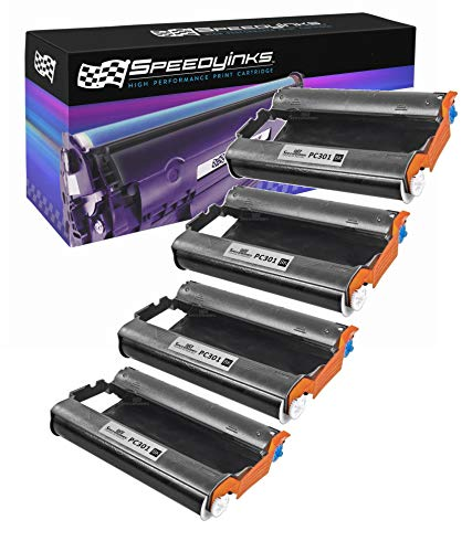 Speedy Inks - 4pk Brother PC301 Compatible Fax Cartridge with - Pc301 Fax Compatible