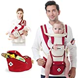 Baby Carrier Soft Sling All Carry with Hip Seat 360 Positions Award-Winning Ergonomic Child and Newborn Seats (RED) Image