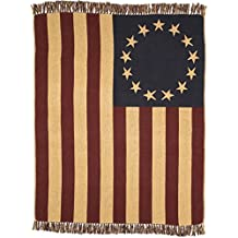 VHC Brands Old Glory Throw Woven 50x60