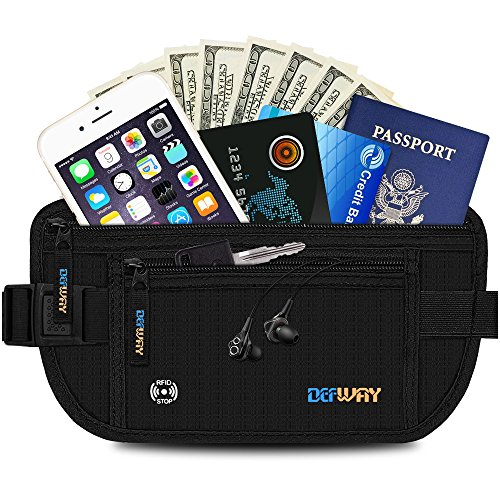 DEW Travel Money Belt With RFID Blocking & Travel Wallet for Men and Women