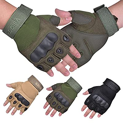 Vbiger Military Half-finger Fingerless Tactical Airsoft Hunting Riding Cycling Gloves