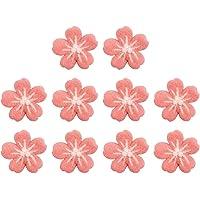 SOIMISS 10Pcs Canteiros de Flores de Tecido de Feltro de Lã Flor de Cerejeira Flor Applique Ferro Em Sew Em Apliques…