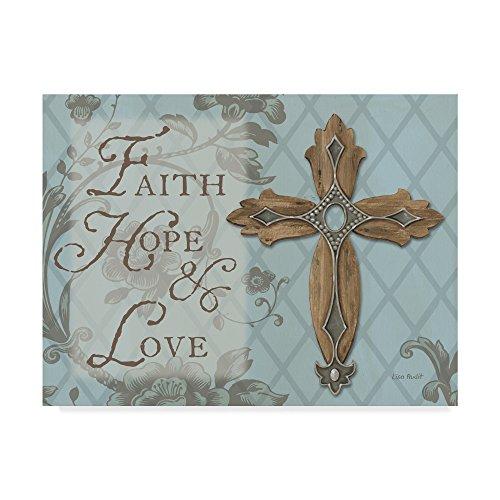 Trademark Fine Art Lisa Audit Faith Hope Love 18x24, Multicolor by Trademark Fine Art