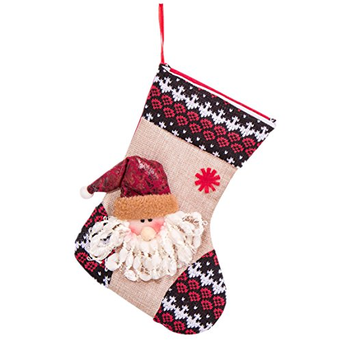 christmas stockings Clearance ♥ gift bag Christmas decorations large high-grade candy socks (A)