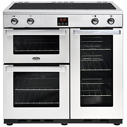 Belling COOKCENTRE 90EI PROF S 900mm Electric Range Cooker Induction Hob Pro Steel Energy Class A