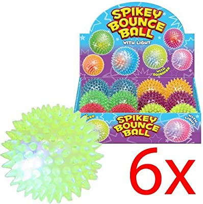 Flashing SPIKE BALL Spikey Massage Bounce Light /& Sound Sensory Flashing stress