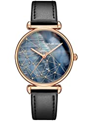 Taylor Cole Ladies Stary Sky Constellation Design Dial Quartz Leather Band Wrist Watch TC143