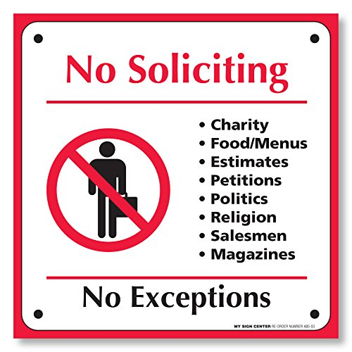 Pack Soliciting Exceptions Adhesive Sticker