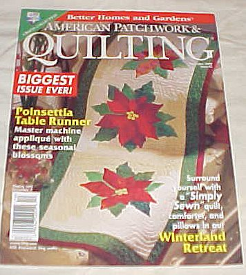American Patchwork & Quilting December 1999 Issue 41 (Better Homes and Gardens) Magazine