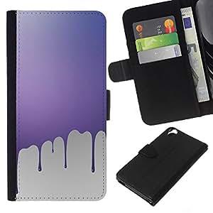 LECELL--Cuero de la tarjeta la carpeta del tirón Smartphone Slots Protección Holder For HTC Desire 820 -- Goteo de pintura rosa --