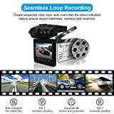 "Dash Cam,Car DVR,Dashboard Camera,Car Recorder 2.5"" for Cars with Night Vision / HD IR Dash Cam 270 Degrees Rotatable Camera Video Recorder / Traffic Dashboard Camcorder Loop Recording-No Card"