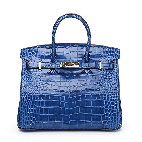 GUANGMING77 Single Schultertasche_Platin Paket Bag Lady Geformte Schulter Tide No. 25 blue