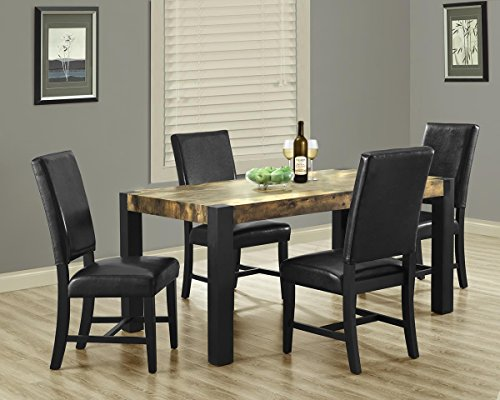Distressed Reclaimed-Look Black Dining Table I 1620 [Set of 2]