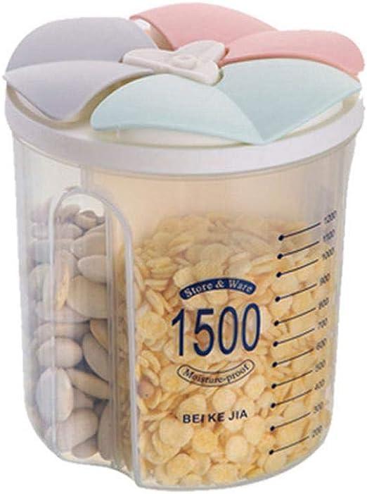 Hamkaw Contenedores de Cereales Cinco Compartimentos, Caja de ...