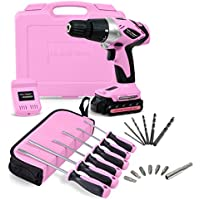 Pink Power Lithium Ion Cordless Screwdriver At A Glance