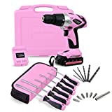 Pink Power PP181LI 18 Volt Lithium-Ion Cordless Electric Drill Kit & 6 Piece Screwdriver Set for Women Review